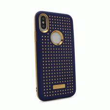 Futrola Hot Dots za iPhone X tamno plava