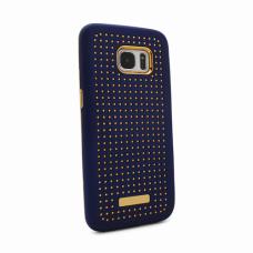 Futrola Hot Dots za Samsung G935 S7 Edge tamno plava