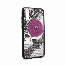 Futrola Lace Flower za Huawei P20 ljubicasta