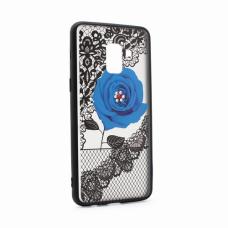 Futrola Lace Flower za Samsung A530F Galaxy A8 2018 plava