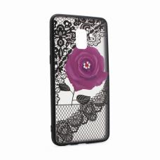 Futrola Lace Flower za Samsung A730F Galaxy A8 Plus 2018 ljubicasta