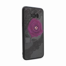 Futrola Lace Flower za Samsung G955 S8 Plus ljubicasta