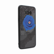 Futrola Lace Flower za Samsung G955 S8 Plus plava