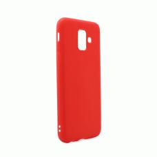 Futrola Leather Look za Samsung A600F Galaxy A6 2018 crvena
