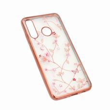 Futrola Pink Flower za Huawei P30 Lite roze