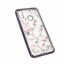 Futrola Pink Flower za Huawei Y7 2019/Y7 Prime 2019 crna