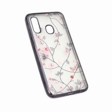 Futrola Pink Flower za Samsung A202F Galaxy A20e crna