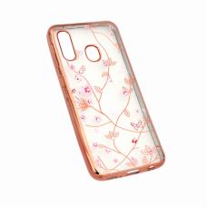 Futrola Pink Flower za Samsung A202F Galaxy A20e roze