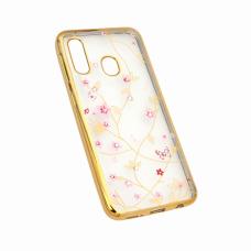 Futrola Pink Flower za Samsung A202F Galaxy A20e zlatna