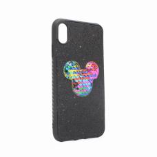 Futrola Shiny mouse za iPhone XS Max crna