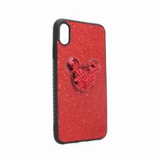 Futrola Shiny mouse za iPhone XS Max crvena
