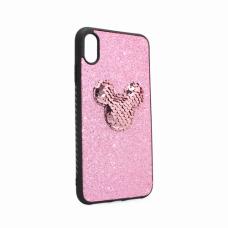 Futrola Shiny mouse za iPhone XS Max roze
