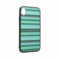 Futrola Three stripes za iPhone XR zelena