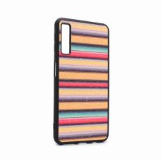 Futrola Three stripes za Samsung A750FN Galaxy A7 2018 zlatna